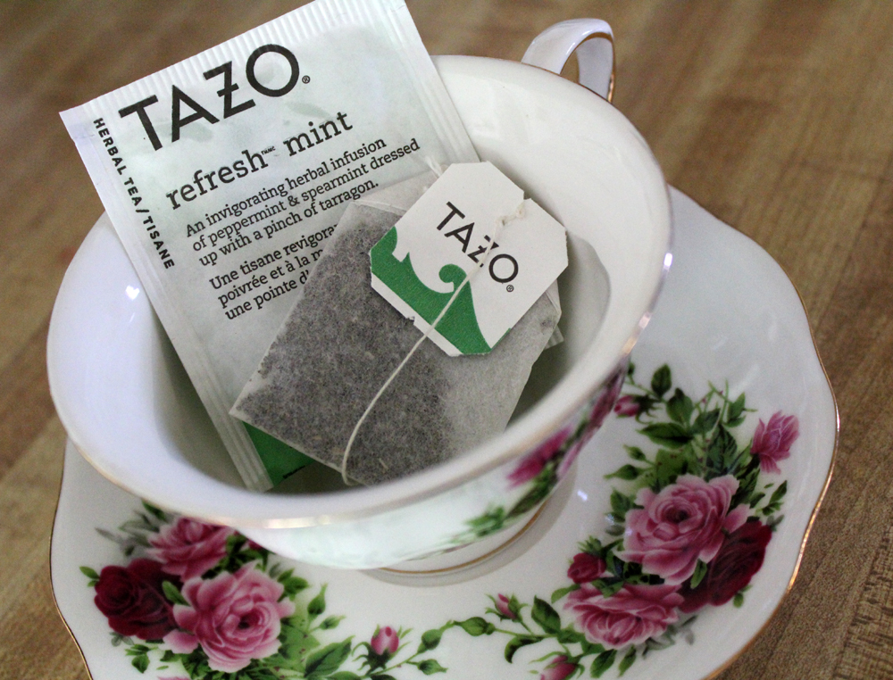 Tea review: Tazo Refresh Mint green bagged tea