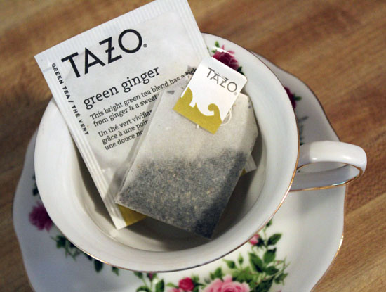 Tea review: Tazo Green Ginger bagged tea