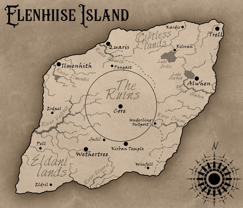Map of Elenhiise Island