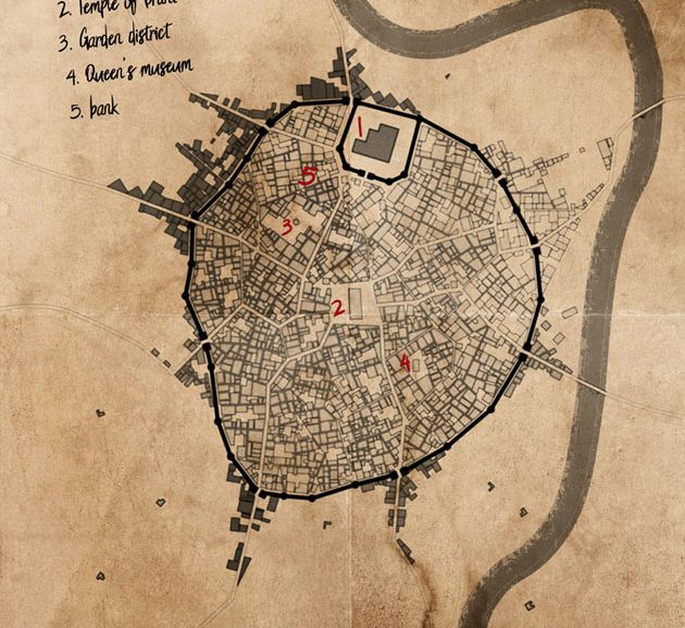 Mapping Orrad, capital of the southern Westkings Empire