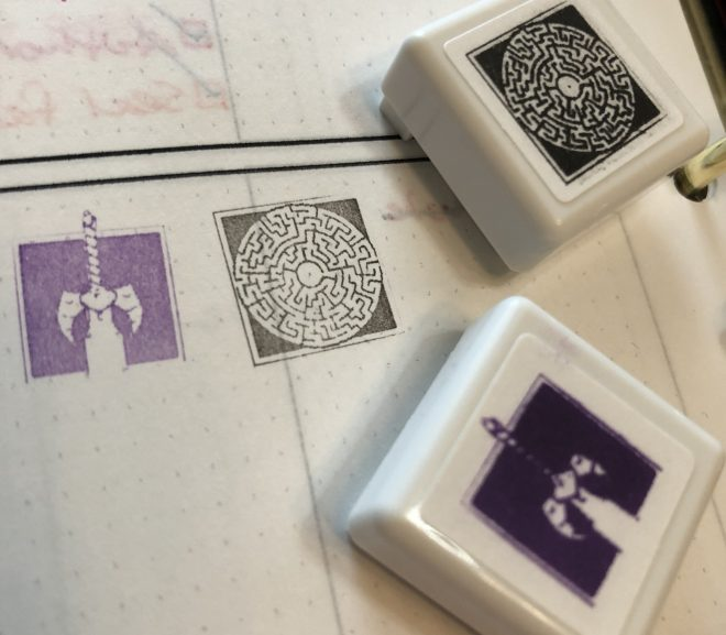Making book stamps because why not