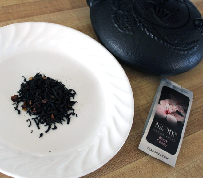 Tea review: Tea Forte Black Cherry Noir