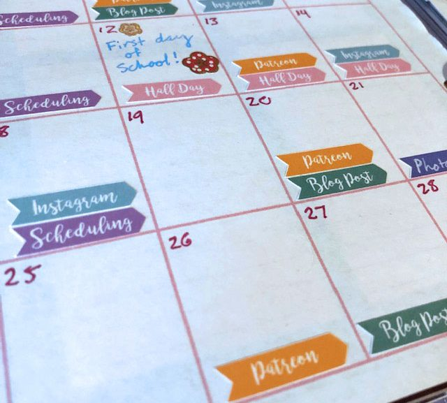 Free printable schedule stickers for authors