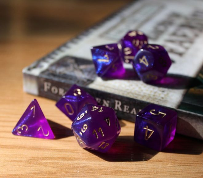 Using dice for writing books